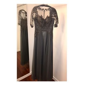 Sleeved Flowy Gown